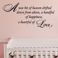 A WEE BIT OF HEAVEN ~ Wall sticker / decals